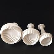 3 stks/set shell fondant cake decorating sugarcraft plunger cutter flower mold a088 <br />  DYan