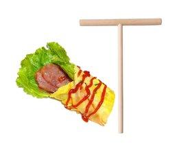 T vorm crêpe maker pancake batter houten strooier stok afneembare diy keuken gereedschap <br />  Meltset