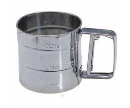 Praktische Rvs Zeefje Cup Bakken Poedersuiker Shaker Zeef Zeef <br />  SSGP