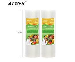 17 cm * 500 cm/Roll Voedsel Vacuüm Zakken Food Saver Vacuumsealer Zakken Vacuüm Verpakking tassen <br />  ATWFS