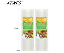 Koop 20 cm x 500 cm 1 Roll Vacuüm Voedsel Bag voor Keuken Vacuüm Opbergzakken Verpakking Film houden Verse <br />  ATWFS