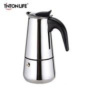 TINTON LEVEN 2 Cup Rvs Moka Espresso Latte Percolator Stove Top Koffiezetapparaat Pot <br />  TINTON LIFE
