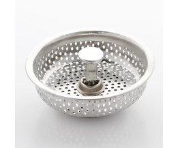 Roestvrij Aanrecht Zeef Water Drain Plug Sink Stopper Filter Haar Catcher Drainage Accessoires Gat Plug <br />  DONYUMMYJO