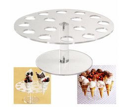 Ijsje Houder Cake Stand 16 Houdt Wieden Party Buffet Display Plank 250mm Keuken Bar Bakvormen Stands <br />  V587