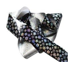 100x4 cm Nail Folies Laser Glitter Kerst Sneeuw Bloem Schoonheid Sticker Nail Art Transfer Folies Nail Beauty Tips STZXK79 <br />  Full Beauty