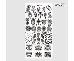 1 St Windmolen Ontwerpen Nail Art Stempelplaten Template Veer Rvs Transfer Patters Tattoos Nagels Gereedschap SAXYZ23 <br />  STZ