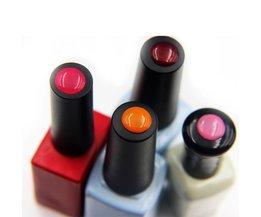 100 stks  Label Sticker voor Gel Polish Nail Art Lijm Knop Sticker-Identificeren Uw Nail Gel Polish Sticker Tool <br />  Nail MAD