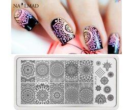 1 st Mandala Nail Art Stempel Plaat Mandara Plaat Paisley Stempelen Beeldplaat Damast Nail Stempelen Plaat XY-J13 <br />  MyXL