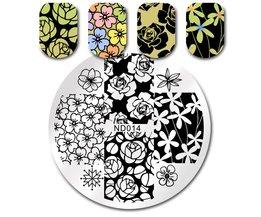 NICOLE DAGBOEK Nail Art Stempel Afbeelding Plaat Bloemen Patroon DIY Nail Stempelen Template ND-014 <br />  NICOLE DIARY