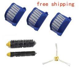 3 aero vac hepa filter + borstel kit voor irobot roomba 600 serie 620 630 650 660 etc robot stofzuiger vervangende onderdelen <br />  OSSIEAO