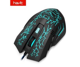Koop  Bedrade Gaming Muis USB 2400 DPI 7 LED Backlight Ergonomische Computer Muis Gamer Voor PC Laptop Desktop HV-MS672 <br />  HAVIT