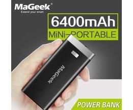 Mageek power bank 6400 mah backup power backup batterij externe batterij draagbare oplader voor iphone samsung  <br />  <br />  MyXL