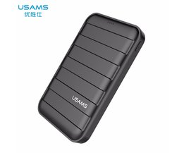 5 V 2A 10000 mAh Grote Capaciteit Power bank LED Dual USB PowerBank 10000 mAh Mobiele Telefoon Snelle Oplader 18650 Externe batterij <br />  USAMS