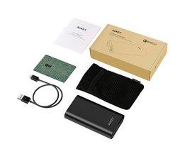 Quick Charge 3.0 Power Bank 10050 mAh Batterij Twee Manier Quick Opladen Powerbank Draagbare Oplader voor Galaxy S8 Xiaomi Meizu <br />  AUKEY