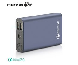 BW-P3 Originele Universele 10000 mAh 18 W QC3.0 Quick Telefoon Oplader 3.0 Dual Usb-poort Power Bank Externe Batterij <br />  BlitzWolf