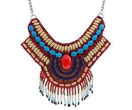 Vintage Bohemian Kettingen Bead Hanger Grote Verklaring Ketting voor Vrouwen Vintage Etnische Sieraden geschenken N3691 <br />  Solememo