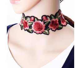 Tomtosh 1 stksbohemian bloem gedrukt choker ketting voor vrouwensteampunk ketting tattoo sieraden kraag de mujer <br />  TOMTOSH