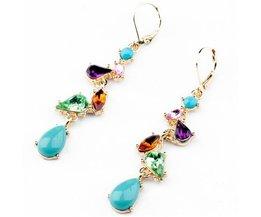 Wing yuk takOorbellenMode-sieraden Legering Multicolor Kristallen Lange Oorbellen voor Vrouwen Fabriek Groothandel <br />  wing yuk tak