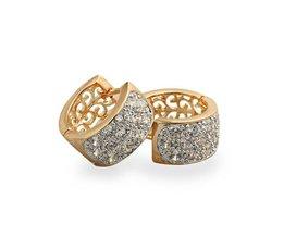 Twee Paar CC Oorringen Voor Vrouwen Boucle Aretes Bijoux Zircons Oorbellen Gold Brincos Ouro Mode-sieraden Bijouterie E3329 <br />  BESARTE
