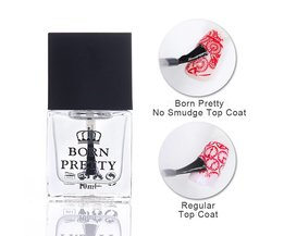 GEBOREN PRETTY 10 ml Top Jas Olie Heldere Olie Gedrukt Isolerende olie Nagellak Jas Nail Art Care Olie DIY Base Foundation <br />  Born Pretty