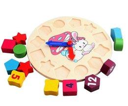 Kinderen Educatief Speelgoed Jongens Meisjes DIY Speelgoed Hout Intelligentie Kleurrijke Aantal Houten Klok Speelgoed Gratis Drop Verzending Groothandel <br />  MyXL