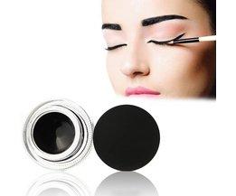 Eyeliner Gel Cream Black Eye Liner met Borstel Make langdurige Natuurlijke Cosmetica voor Muziek Bloem Waterdichte Eyeliner <br />  MISS ROSE