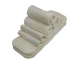 Ananbaby 1 stks Bamboe Katoen Inserts 4 Lagen Herbruikbare Insert Voor Baby Doek Luier Babies Nappy Inserts Maat 14x35 CM <br />  ananbaby