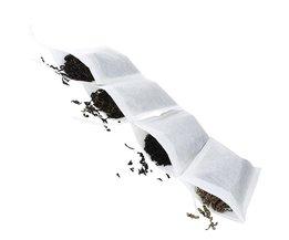 100 Stuks Wegwerp Filter Lege Theezakjes Trekkoord Kruid Losse theezakje Thee Filter Zakken 10*12 cm <br />  Goldbaking