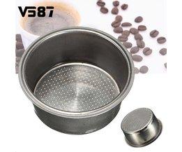 Koffie Filter Mand Rvs Compatibel Voor Koffiezetapparaat Filter Hervulbare Herbruikbare Capsule  <br />  <br />  V587