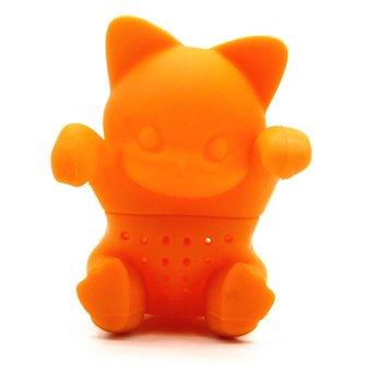 Creatieve Kat Vormige Theezeefje Filter Food Siliconen Thee-ei Oranje Kleur Thee Gereedschap <br />  AIHOME