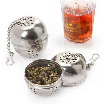 Veilig Rvs Theezeefje Theepot Ronde Thee-ei Filter Theepot Voor Thee & Koffie Keuken Drinkware1854 <br />  OUSSIRRO