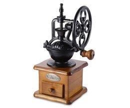 Vintage Handkoffiemolen Retro Stijl Houten Koffieboon Molen Slijpen Reuzenrad Ontwerp Hand Koffiezetapparaat Machine <br />  GBhome
