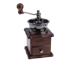 Handkoffiemolen Retro Hout Ontwerp Koffie Molen Maker Slijpmachines Koffieboon Grinder Hand Conische <br />  VKTECH