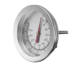 """Bakvormen F/C 2 """"Rvs BBQ Smoker Pit Grill Bimetaal thermometer Temp Gauge met Dual Gage 500 Graden Koken Gereedschap <br />  BiNFUL"""