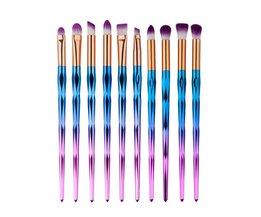Professionele Oogmake-up Borstel Set Wenkbrauw Oogschaduw Poeder Foundation Eyeliner Brush Kit Schoonheid Cosmetische Borstel Sets Tool <br />  Gecorid