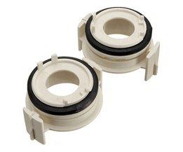 2 stks Hoge Qulaity H7 HID Lamp Adapter Houder Wit H7 HID Lamp Adapter Houder voor BMW E46 3 Serie 99-06 <br />  MyXL