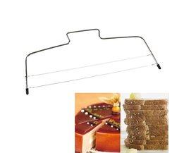 Bakken Gebak Gereedschap Verstelbare Wire Cake Slicer Leveler Rvs Slice voor Layer Broodjes Beste Prijs <br />  VKTECH