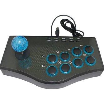 USB Vechten Stok Arcade Joystick Gamepad Rocker Game Controller Voor PS3/PC Voor Android Plug En Play Straat Vechten gevoel <br />  ShirLin