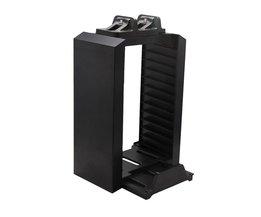 Multifunctionele Disk Opslag Houder Toren met Controller Dock Station Charger Met Micro Usb-kabel Voor PS4 Game Controller <br />  ALLOYSEED