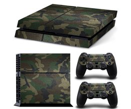 camouflage stijl ps4 huid stickers vinyl decal protector voor sony playstation 4 console en 2 stks controller skin stickers <br />  MyXL