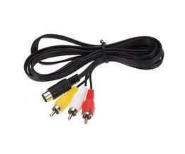 NieuwsteGROTE Promotie Duurzaam 1.8 M 9 pin Audio Video Av-kabel voor Sega Genesis 2 of 3 Een/V RCA Connection CordKoop <br />  MyXL