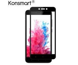 Konsmart 5 stks Screen Protector Voor Xiaomi Redmi 4X film Gehard glas voor Xiaomi Redmi 4X 2.5D HD Beschermende Telefoon zwart kleur <br />  KONSMART