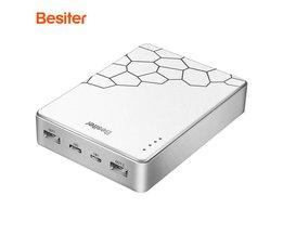 10000 mah Quick Charge voor Smartphones Batterij Mobiele Opladen Charger Type-C ingang Externe Bank Twee usb-uitgang <br />  Besiter
