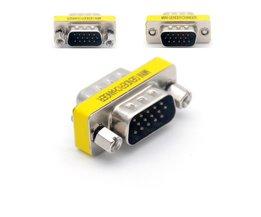 DB15 15 Pin VGA Mannelijk naar voor Gezamenlijke Seriële Poort VGA Connector Adapter VGA Gender Changer Groothandel <br />  Jninsens