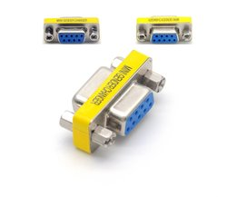 DB9 Vrouw-vrouw 9Pin RS232 Seriële Poort Connector Adapter Plug Connector RS232 COM Socket Adapter Mini Gender Changer <br />  Jninsens