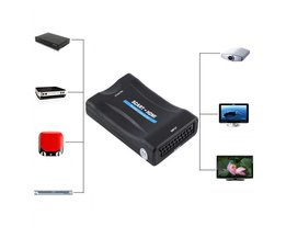 720 P 1080 P Scart naar HDMI Converter Audio Video Converter Scaler Adapter Scart naar HDMI Video Converter <br />  VBESTLIFE