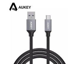USB 3.0 1 m Nylon Gevlochten Type-C Kabel USB A naar Type C Snelle Oplaadkabel voor Xiaomi Mi5 Meizu Pro6 LG Huawei P9 Macbook <br />  AUKEY