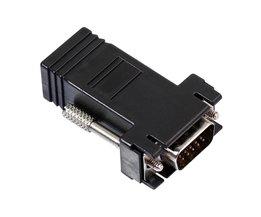 VGA Extender Man naar Lan Cat5 Cat5e/6 RJ45 Ethernet Vrouwelijke Adapter Connector Man-vrouw VGA naar RJ45 Converter voor Computer  <br />  <br />  ALLOYSEED