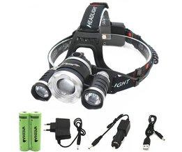 Head lamp 13000 lumen LEDZOOM T6 + 2R5 koplamp schijnwerper Hoofd light koplamp zaklamp 18650 batterij + autolader + USB + Lader <br />  WYZHAO