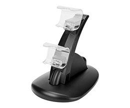 Dual USB Lading Dock Voor Sony Playstation 4 Controller Gamepad Handvat Cradle Dubbele Opladen Oplader Voor PS4 Games Accessoires <br />  powstro